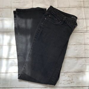 SIZE 8 APT 9 BOOTCUT BLACK FADED JEANS